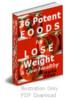 Thumbnail 36 Potent foods PLR + bonuses