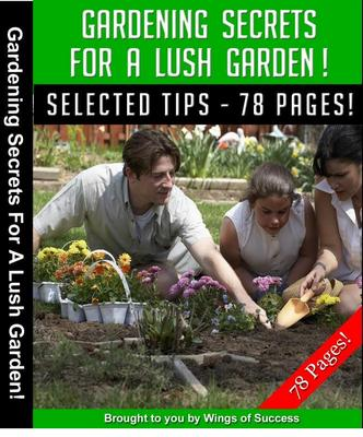 Product picture Gardening Secrets for a lush garden MRR ebook + Bonuses